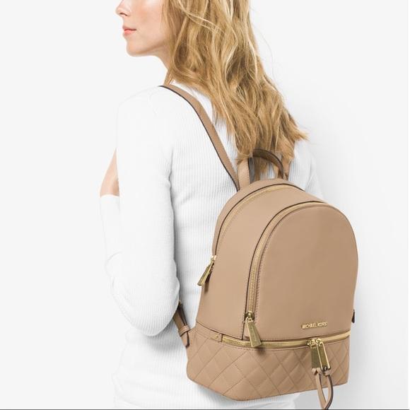 eeb3f4bb2f9e7a MICHAEL Michael Kors Bags | Michael Kors Rhea Zip Leather Backpack ...
